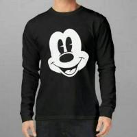 Jual Tshirt, T Shirt, Baju Kaos Lengan Panjang Kartun Mickey Mouse Murah