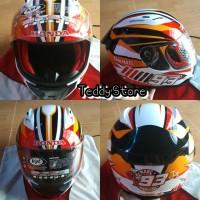 Helm Helmet KYT Honda Full Face Marc Marquez Satu Hati Special Edition