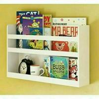 Rak buku anak / floating shelves / rak serbaguna / wadah berkas kantor