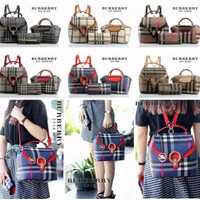 Tas Ransel Wanita/ Woman Backpack - BURBERRY 3 in 1 #M3531/2516