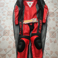WearPack Dainese Leather Original Italy Black red size 54 punuk C-RS