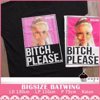 FIT TO XXXL Barbie Moschino Batwing Baju Big Size XXL Cupcake Atasan