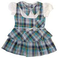 Dress Anak Perempuan Motif garis kotak