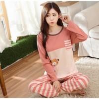 Baju Tidur Piyama Wanita Size M Pink