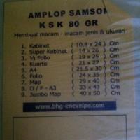 Amplop Coklat SAMSON KSK 80 gram uk. 14 x 26