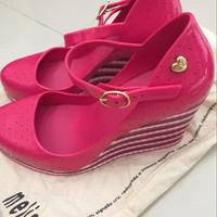 Mellisa Pink Jelly Wedges    Original Size 37