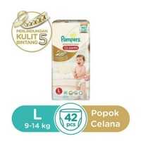 Jual PAMPERS Premium Care Active Pants L.42 Murah