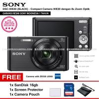 SONY Cyber-shot DSC-W830 BLACK Resmi SanDisk16gb ScreenGuard Pouch