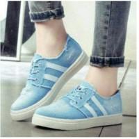 Sepatu Kets Jeans Wanita / Sepatu Kets Bahan Jeans CFS