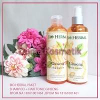 PAKET Bio Herbal Ginseng Shampoo & Hair Tonic BPOM