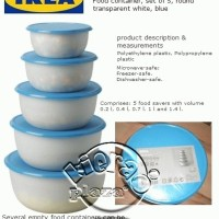 Jual IKEA REDA - 5pcs set wadah cantik untuk merapikan dapur anda Murah