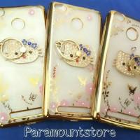 Shining Jelly Case Flowers + Rings Original Grade A Redmi 3 X