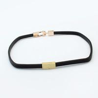Jual [CASH BACK] KN56631 Kalung Choker Black Simple Gold X Murah