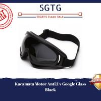 Jual Kacamata Motor Anti UV Google Glass - Hitam, coklat, pelangi Murah