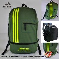 Tas ransel adidas tech steel green army check greenlight free RC
