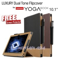 Flipcover for Lenovo YOGA BOOK 10.1 - LUXURY Dual Tone - FREE SP