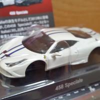 Ferrari 458 Speciale white colour blue striping Kyosho skala 64