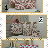 Tote Bags 3 in 1 Paket Besar by Bin Shahab Collection.