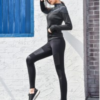 5efe01dce18 Motto Yoga Pants Gym Fitness Aerobik Zumba Leggings Import Hitam