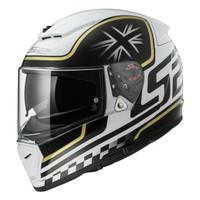 jual helm LS2 FF390 breaker classic white black