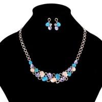 Set perhiasan kalung dan anting permata 8037.
