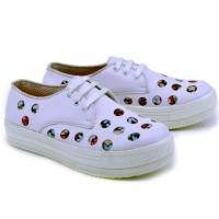 Sepatu Wanita Sneakers Casual Keren Branded - Cantiku GK 6564
