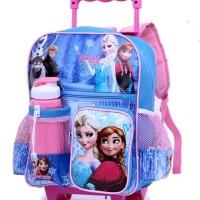 Tas Troli Koper Tas Sekolah Anak Perempuan Cewek Frozen 5874GWI