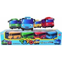Tayo Little Bus Pullback isi 4. Cartoon car Driving Game. Mobil korea