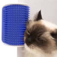 Mainan sisir kucing murah plus catnip tempel tembok sikat pijat cat