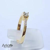 Cincin Solitaire Emas Berlian Asli Natural diamond