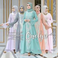 BAJU PESTA MUSLIMAH - AYYANAMEENA CAELYN - DRESS PESTA BRANDED ORI