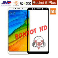 Tempered Glass 2.5D Color Warna Full Layar Hp Xiaomi Redmi 5 Plus / 5+
