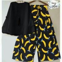 Harga setelan kulot banana set kulot balotelly pakaian muslim | Pembandingharga.com