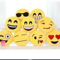 Bantal Mainan Rumah Dengan Gambar Smiley Emoji Import