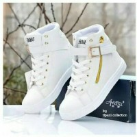 boots anbu putih sepatu boot kets casual sneakers fashion wanita