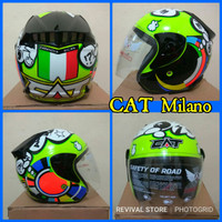 Helm CAT rossi Milano mirip NHK R6
