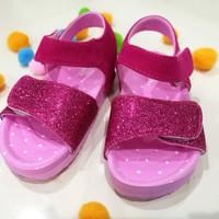 sepatu sandal anak perempuan bubble gummers pink glitter sendal girl