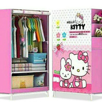 Lemari Rak Bongkar Pasang Hello kitty / Mickey / Frozen