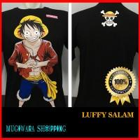 Kaos Distro Baju Murah Anime Film Kartun One Piece Onepiece Topi Hitam