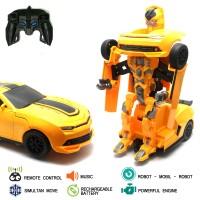 Mainan Remote Control RC Transformer Bumble Bee Car
