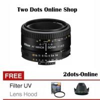 Nikon Lensa AF 50mm f/1.8D AF 50 mm 1.8 D Free UV Filter & Lens Hood
