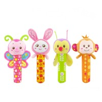 Happy Monkey Sunshine Garden Rattle Stick Mainan Bayi Anak Pegangan