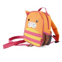 Skip Hop Zoo Let Mini Backpack with Rein Cat - Orange