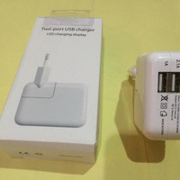 Charger iPad Tablet Note Batok Casan Android iOS Dual Output 1.2A & 2.