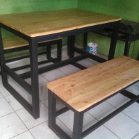 Meja dan kursi makan cafe murah custom set
