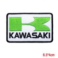 kawasaki emblem bordir iron on patch tidak perlu jahit cukup disetrika