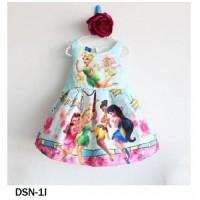 Gaun Anak Disney TinkerBell Blue