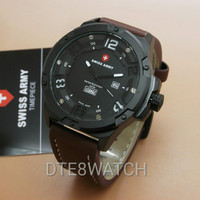 ORIGINAL Swiss Army 3035M Leather 1 Year Guaranted
