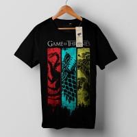 Kaos Tees Game of Thrones 3 Sigil (Targaryen, Stark, Lannister)