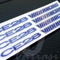 OBRAL AKSESORIS MOBIL Sticker Decal Velg Volk Racing CE28 HARGA MURAH